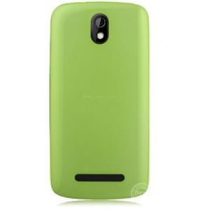 Пластиковая накладка полупрозрачная для HTC Desire 500 Зеленый