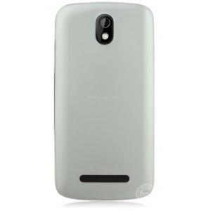 Пластиковая накладка полупрозрачная для HTC Desire 500 Белый