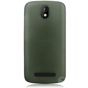 Пластиковая накладка полупрозрачная для HTC Desire 500 Черный
