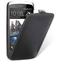Кожаный чехол книжка вертикальная для HTC Desire 500 Черный