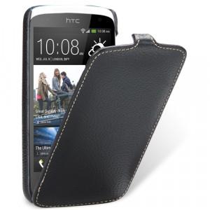 Кожаный чехол книжка вертикальная для HTC Desire 500