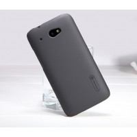 Пластиковый матовый премиум чехол для HTC Desire 601 Черный