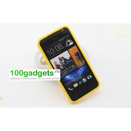 Силиконовый чехол для HTC Desire 200 Голубой