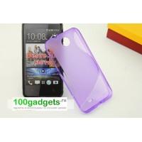 Силиконовый чехол S для HTC Desire 300 Фиолетовый