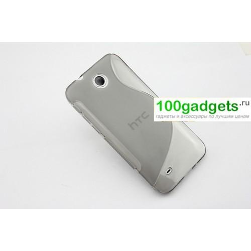 Силиконовый чехол S для HTC Desire 300 Черный