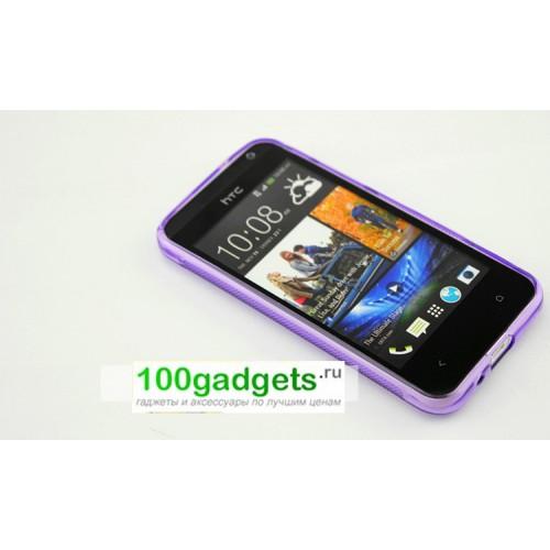 Силиконовый чехол S для HTC Desire 300 Голубой