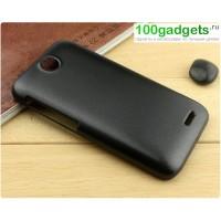 Пластиковый матовый чехол для HTC Desire 310 Черный