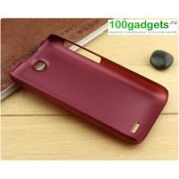 Пластиковый матовый чехол для HTC Desire 310 Красный