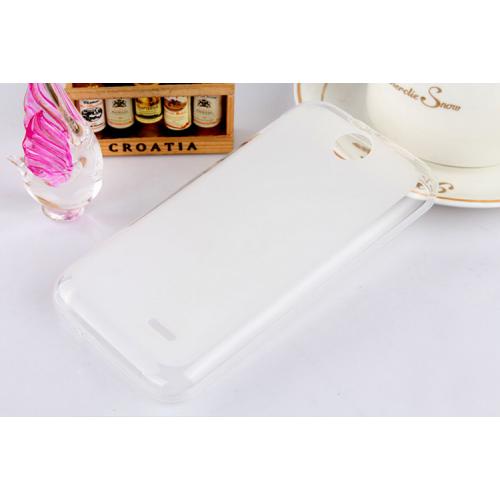 Силиконовый матовый полупрозрачный чехол для HTC Desire 310