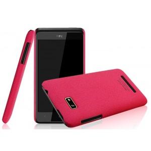 Пластиковый матовый чехол для HTC Desire 400 Dual SIM Красный