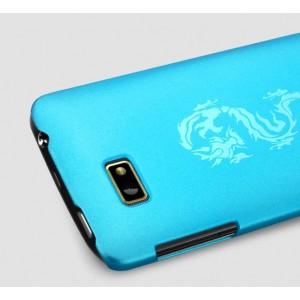 Пластиковый чехол с принтом серия Nature Shell для HTC Desire 400 Dual SIM Голубой
