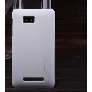 Пластиковый матовый премиум чехол для HTC Desire 400 Dual SIM Белый