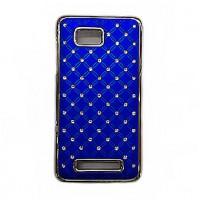 Пластиковый чехол со стразами для HTC Desire 400 Dual SIM Синий