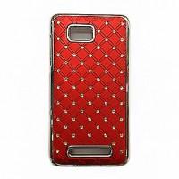 Пластиковый чехол со стразами для HTC Desire 400 Dual SIM Красный
