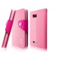 Чехол подставка подставка с застежкой для HTC Desire 400 Dual SIM Розовый