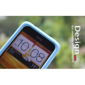 Силиконовый чехол софт тач премиум для HTC Desire 400 Dual SIM Синий