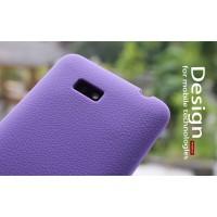 Силиконовый чехол софт тач премиум для HTC Desire 400 Dual SIM Фиолетовый