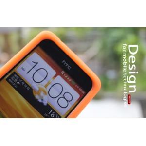 Силиконовый чехол софт тач премиум для HTC Desire 400 Dual SIM Оранжевый