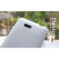 Силиконовый чехол софт тач премиум для HTC Desire 400 Dual SIM Белый