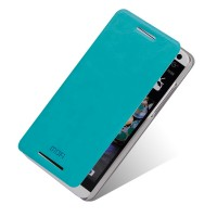 Чехол флип подставка водоотталкивающий для HTC Desire 700 Голубой