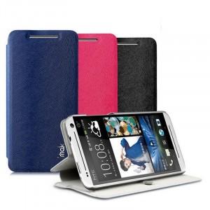 Чехол флип подставка текстурный на присоске для HTC Desire 700