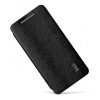 Чехол флип подставка текстурный на присоске для HTC Desire 700 Черный