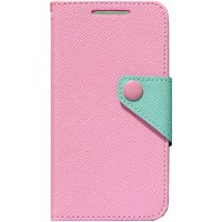 Чехол портмоне подставка текстурный для HTC Desire 700 Розовый