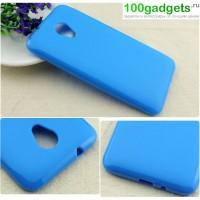 Силиконовый чехол для HTC Desire 700 Голубой