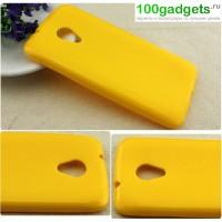 Силиконовый чехол для HTC Desire 700 Желтый