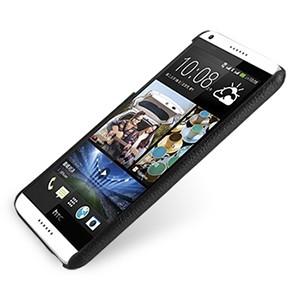 Кожаный чехол накладка серия Back Cover (нат. кожа) для HTC Desire 816 черная
