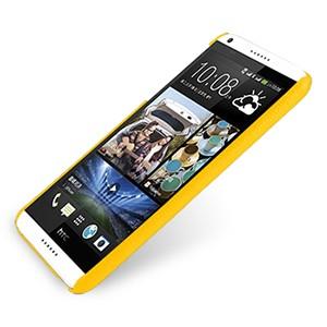 Кожаный чехол накладка серия Back Cover (нат. кожа) для HTC Desire 816 желтая