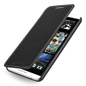 Кожаный чехол книжка горизонтальная (нат. кожа) для HTC Desire 816 черная
