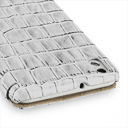 Эксклюзивный кожаный чехол книжка горизонтальная серия Nature (нат. кожа) для HTC Desire 816 белая