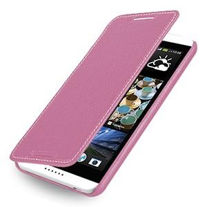 Кожаный чехол книжка горизонтальная (нат. кожа) для HTC Desire 816 розовая