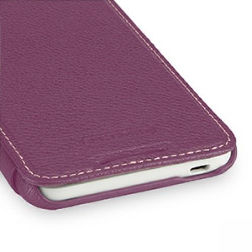 Кожаный чехол книжка горизонтальная (нат. кожа) для HTC Desire 816 фиолетовая