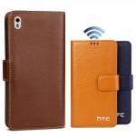 Кожаный чехол портмоне (нат. кожа) для HTC Desire 816