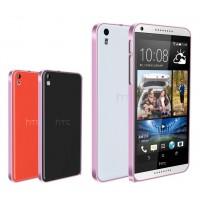 Металлический бампер для HTC Desire 816 Розовый