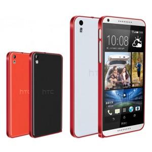 Металлический бампер для HTC Desire 816 Красный