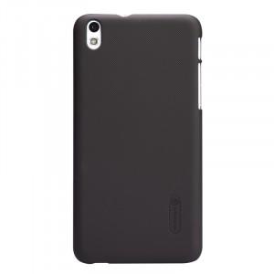 Пластиковый матовый премиум чехол для HTC Desire 816 Коричневый