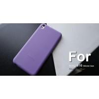 Силиконовый чехол софт-тач премиум для HTC Desire 816 Фиолетовый