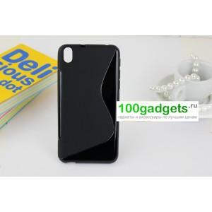 Силиконовый чехол S для HTC Desire 816 Черный