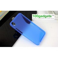 Силиконовый чехол S для HTC Desire 816 Синий