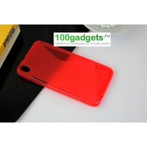 Силиконовый чехол S для HTC Desire 816 Красный