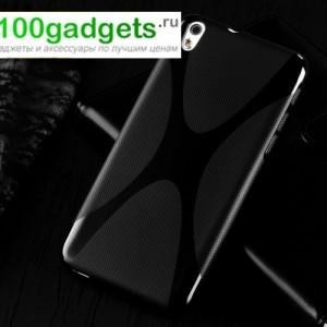 Силиконовый чехол X для HTC Desire 816 Черный