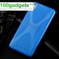 Силиконовый чехол X для HTC Desire 816 Голубой