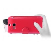 Чехол смарт флип с окном вызова для HTC One 2 Красный