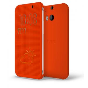 Оригинальный чехол флип серия Holes of Truth для HTC One 2 Оранжевый