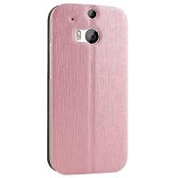 Чехол флип подставка текстурный на присоске для HTC One 2 Розовый