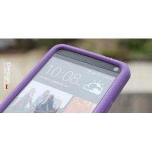 Силиконовый премиум софт-тач чехол для HTC One 2 Фиолетовый