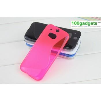 Силиконовый чехол S для HTC One 2 Розовый